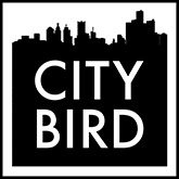 City Bird Logo Outline Black Web